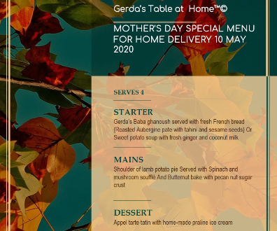 Mother's Day Special Menu